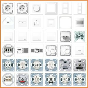JUNG Serie A 550 A550 WW Alpinweiß Weiß USB Steckdose Rahmen Schalter Wippe