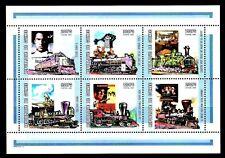 TEMA CINE. 2002 GUINEA REP. GARY COOPER. TRENES 6v.