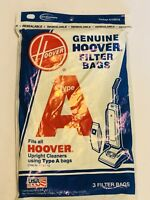 Hoover Type A Vacuum Cleaner Bags Top Fill Convertible Concept 1/2 Decade 80