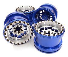 C26703BLUE Integy Billet Machined D6 Spoke Wheel Set(4)for Axial 1/10 Yeti