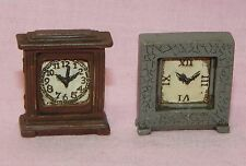 Dollhouse Miniature Clock Set 2 Mantel Houseworks Minis 1:12 Scale