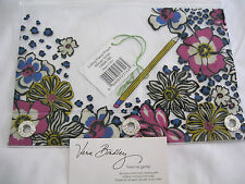 Vera Bradley AFRICAN VIOLET Pencil PEN Pouch FOR BACKPACK Tote PURSE Bag  NWT