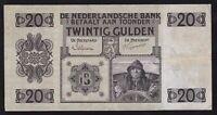 NETHERLANDS ------ 20  GULDEN  1926 ------ F/VF ------