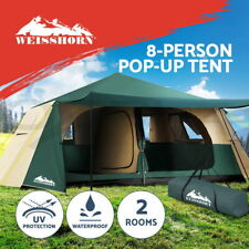 Weisshorn Instant Up Camping Tent 8 Person Pop up Tents Family Hiking Dome Camp