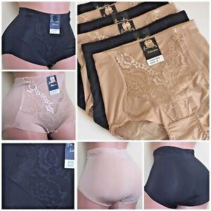 4- 6 High Waist Briefs Tummy Control Girdles Bikini Shaper Panties Gifts 75 S-XL