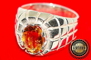 Yellow TOPAZ Ring Size 9 -Natural Gemstone Handmade Ring with CERTIFICATE