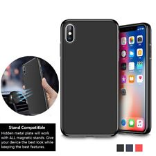 Soft Thin Silicone Magnetic Metal Phone Case Cover X XR XS Max Plus 11 8 7 6 UK