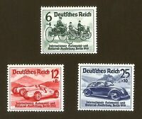 DR Nazi 3rd Reich Rare WW2 Stamp Hitler's Car Automobile Exhibition 1939 Machine