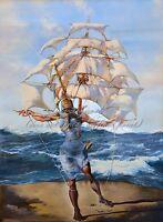 "SALVADOR DALI Surrealism Painting Poster or Canvas Print /""Melancholy Atomic/"""