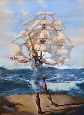 "SALVADOR DALI Surrealism Art Painting Poster or Canvas Print ""The Ship"""