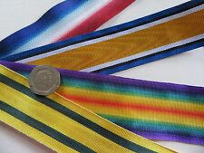 14/15 Star,  BWM, Victory &  TFWM, replacement medal ribbon. x 1 Metre
