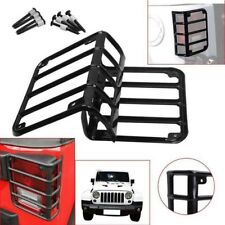 For 07 16 Jeep Wrangler Jk Steel Metal Black Rear Tail Light Guards Covers New Fits Jeep