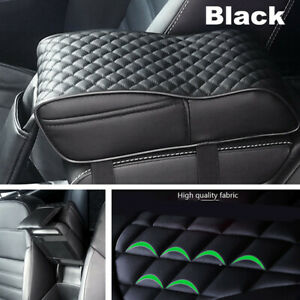 Universal SUV Car Armrest Box Mats PU Leather Console Pad Liner Cushion Cover