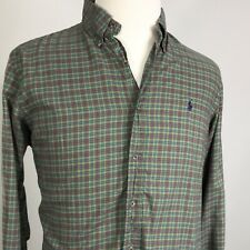 Polo Ralph Lauren MENS CUSTOM FIT GREEN PLAID BUTTON DOWN SHIRT SIZE L