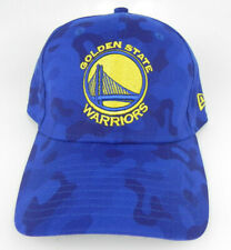 GOLDEN STATE ST. WARRIORS NBA CAMO NEW ERA 39THIRTY FLEX M/L ROYAL HAT CAP NWT!