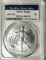 2015-(W)  American Silver Eagle - PCGS  MS-70 - Mint State 70