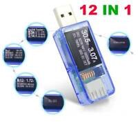 12 In 1B Tester DC Digital Voltmeter Voltage Current Meter Ammeter Detector~