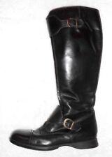 HOGAN bottes plates zippées cuir noir P 37 TBE