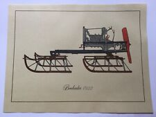 Vintage Print Of Bombardier , First Snowmobile 1922, Model B-7 , UNFRAMED