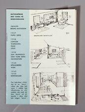 RARE early BRUNO MATHSSON Karl Mathsson catalogue circa fin 1940 S