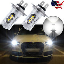 For Audi A3 A4 A5 A6 Q5 Q7 Tt Super White H7 Led Headlight High Beam Bulbs 2pcs
