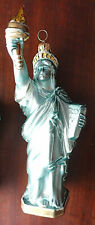 Kurt Adler Polonaise Statue Of Liberty Glass Ornament w/Glitter, Ap942