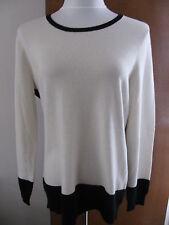 Ralph Lauren women's Cream Black cashmere sweater XLarge NWT