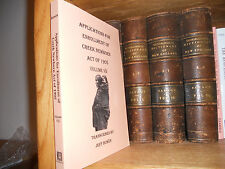 Applications For Enrollment Creek Newborn Volume 7 Genealogy Book