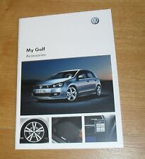 VOLKSWAGEN VW GOLF Mk6 ACCESSORI OPUSCOLO 2010