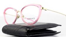 New Authentic VERSACE Eyeglasses 1244 1404 Pink Clear Cats Eye Designer Frame NR