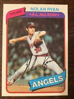 💥1980 Nolan Ryan HOF Topps Baseball Card #580 Califonia Angels PACK FRESH💥
