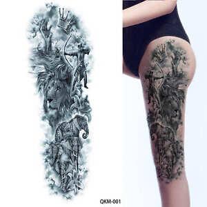 VERY Big Ancient Greek Mythology Temporary Tattoo Full Arm Leg Size 48cm x 17cm