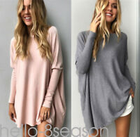 Hot Womens Loose Shirt Batwing Sleeve Jumper Sweater Ladies Casual Pullover Tops