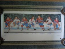 "LES CANADIENS LITHOGRAPH (7) AUTOGRAPHS 39"" x 18"" MONTREAL CANADIENS"