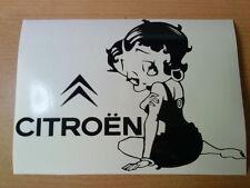 LARGE Betty Boop citroen saxo girls vinyl car bonnet side sticker graphics c van