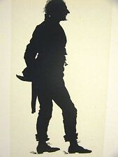 Winslow Homer 1874 SILHOUETTE of a YOUNG MAN from COURTIN' #2 Art Print Matted