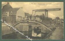 France, Nord Pas de Calais. LA BASSEE. Canal d'Aires. Cartolina d'epoca.