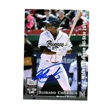 Jasrado Chisholm autograph signed 2018 Midwest League All Star card Kane County