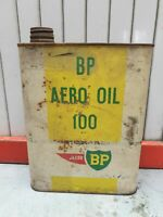 RARE BIDON HUILE COLLECTION ANCIEN BP AVIATION AERO OIL AIR   OIL CAN VINTAGE