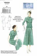 VINTAGE VOGUE 9052 SEWING PATTERN 1949 DESIGN DRESS & JACKET SZ 8-16 NEW UNCUT