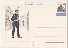 SAN MARINO CARTOLINA POSTALE 120 LIRE 20/12/1979 MILITE COMPAGNIA - NUOVA C46