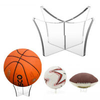 Clear Acrylic Ball Display Stand Basketball Football Rugby Soccer Holder