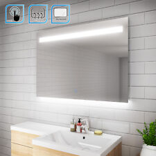 1000x700mm LED Illuminated Bathroom Mirror IP44 Demister Sensor Touch FREE DEL