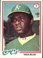 1978 O-Pee-Chee Oakland Athletics Baseball Card #177 Vida Blue - EX-MT