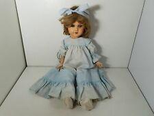 poupée ancienne jouet ancien en composition et bois marquée 8 - 52 cm