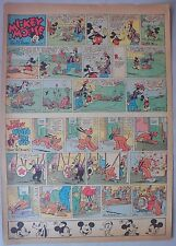 Mickey Mouse Sunday Page by Walt Disney from 10/8/1939 Tabloid Page Size
