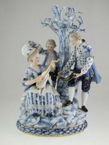 Large Antique 19th Century Meissen Porcelain Group Figures Circa 1870