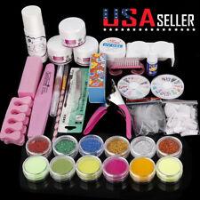 Acrylic Nail Kit Acrylic Powder Glitter Nail Art Manicure Tool Tips Brush Set