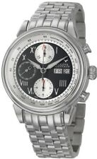 NEW Accutron by Bulova Gemini Chronograph Stainless Steel Watch 63C009 ETA7750