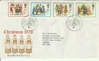 22 NOVEMBER 1978 CHRISTMAS POST OFFICE FIRST DAY COVER BETHLEHEM SHS
